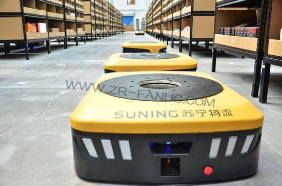 苏宁建济南机器人仓 单件拣货时间可减至10s